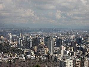 Santiago (commune) - Image: Vista de Santiago desde San Cristobal