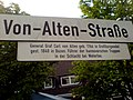 Von-Alten-Straße General Graf Carl von Alten geb. 1764 in Großburgwedel, gest. 1840 in Bozen. Führer der hannoverschen Truppen in der Schlacht bei Waterloo.jpg
