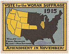 women s suffrage in the united states  vote for the w suffrage amendment 1915