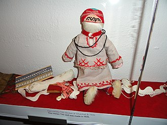Votes - Votic doll on display at Museum of Cultures, Finland.