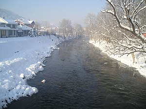 Vrbanja (river) - The Vrbanja in Čelinac in wintertime