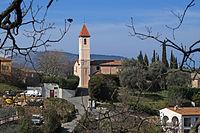 Vue l'église de Saint-Blaise depuis la route de Levens.JPG