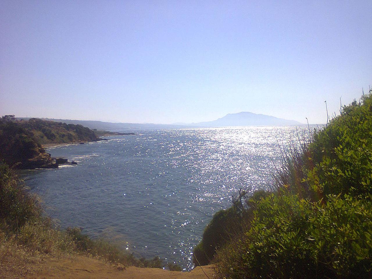 fichier vue sur la mer 224 bouharoun et le mont chenoua 224 tipaza jpg wikip 233 dia