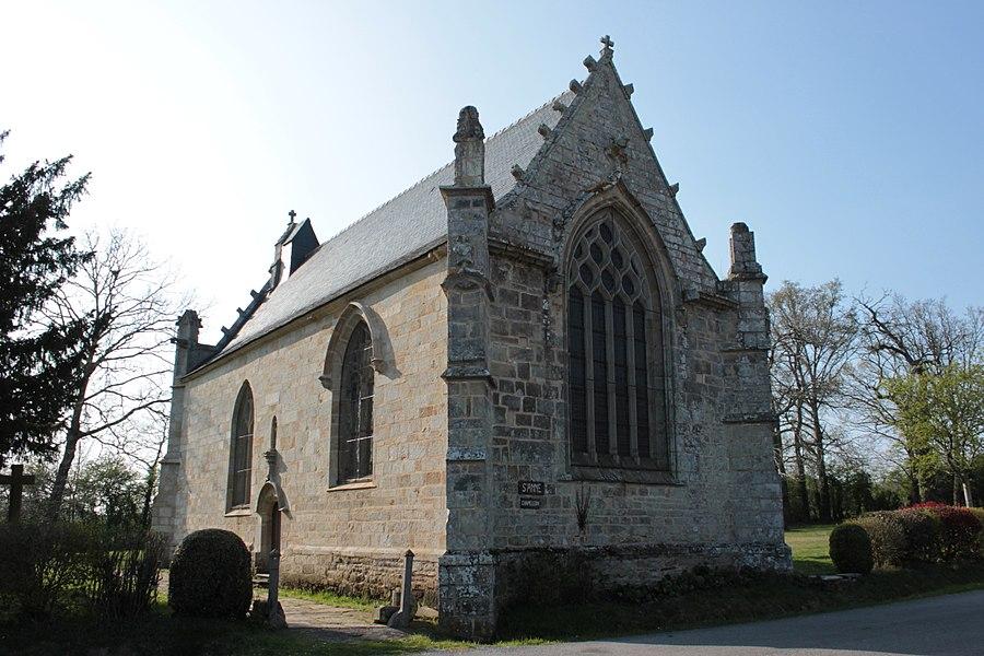 Chapelle Sainte-Anne (XVI° siècle), vue nord, Fr-56-Saint-Dolay.