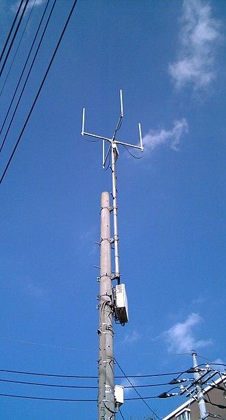 Ymobile Corporation - A Willcom PHS phone tower in Tokorozawa, Saitama, in 2006