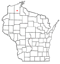 Location of Drummond, Wisconsin