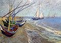 WLANL - jankie - Vissersboten op het strand van Les Saintes-Maries-de-la-Mer, Vincent van Gogh (1888) (1).jpg