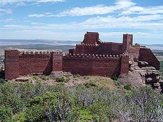 Sierra Menera - The Castle of Peracense built on a ridge in Sierra Menera
