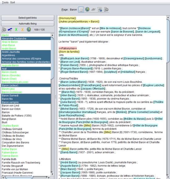 Wikipedia:WPCleaner/Disambiguation page analysis - Wikipedia
