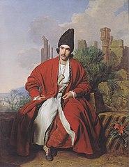 A Greek in a red coat