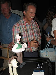 Wallace, Gromit, and creator Nick Park.jpg