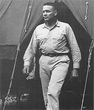 Lewis William Walt - Lieutenant Colonel Lew Walt earned the Navy Cross leading an attack up Aogiri Ridge, renamed Walt's Ridge in his honor.