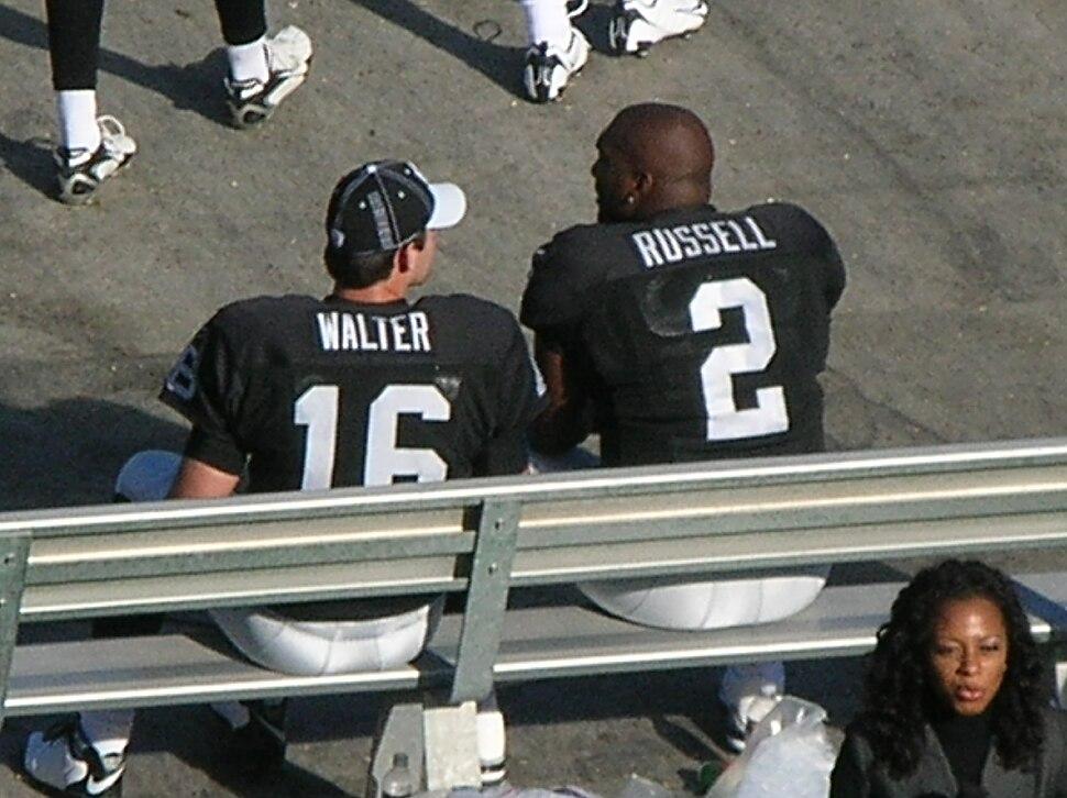 Walter & Russell at Falcons at Raiders 11-2-08