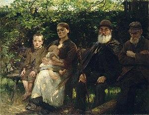 Walter Osborne - In a Dublin Park, Light and Shade, 1895