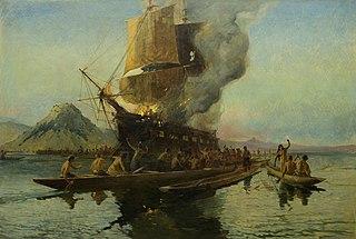 The Burning of the Boyd, Whangaroa Harbour, 1809