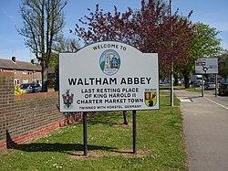 Waltham Abbey Road Sign.JPG