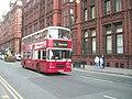 Warrington bus in Whitworth Street, Manchester, 23 August 2008.jpg