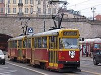 Warsaw tram Konstal13N at Old town.jpg