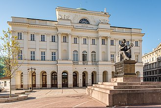 Polish Academy of Sciences - Staszic Palace and Copernicus Monument