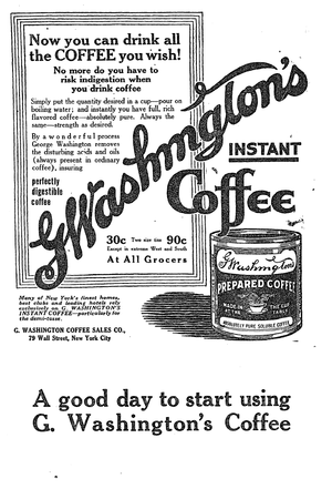 A pre-World War I advertisement introduced Was...
