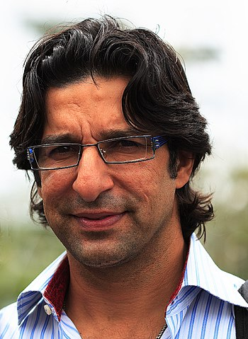 English: Wasim Akram, the former Pakistan cric...