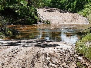 Light River (South Australia) - Wasley Road ford through Light River, Korunye