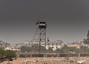English: Watchtower, Rafah, Gaza Strip border ...