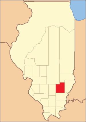 Wayne County, Illinois - Image: Wayne County Illinois 1821