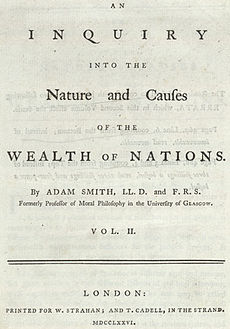 The first page of a book