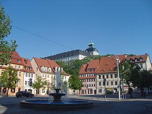 Blick vom Markt zum Schloss
