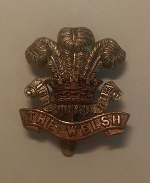 Welch Regiment - Welsh Regiment Cap Badge