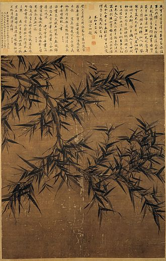 Bamboo painting - Example of ink bamboo painting by Wen Tong, c. 1060.
