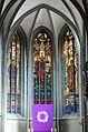 Werl, denkmalgeschützte Propsteikirche, drei Chorfenster.JPG