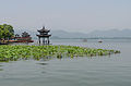 West Lake Pavilion and Water Lilies, Hangzhou 120529 1.jpg