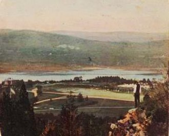 West Point, New York - View of the West Point area from Fort Putnam, c.1865.