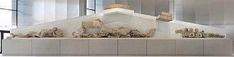 Hekatompedon temple - West pediment