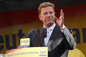 Guido Westerwelle - Westerwelle speaking at an election rally in Hamm