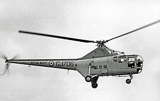 Westland WS-51 Dragonfly - Dragonfly HR.3 of 705 Naval Air Squadron Royal Navy in 1955