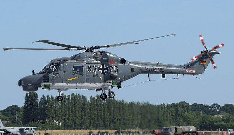 File:Westland WG-13 Super Lynx Mk88a (code 83+25) of the German Navy at RIAT Fairford 17July2017 arp.jpg