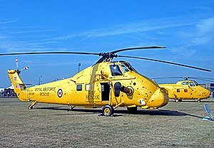 RAF Search and Rescue Force - 22 Squadron Westland Wessex HAR.2 on display at RAF Finningley in 1977.