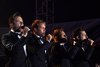Westlife discography - Westlife performing live on their Gravity Tour in October 2011 in Hanoi, Vietnam