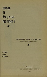 <i>What is Vegetarianism?</i> 1898 pamphlet on Vegetarianism by John E. B. Mayor