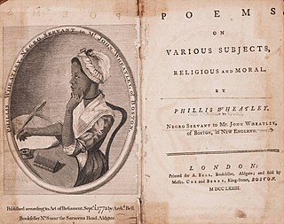 <i>Poems on Various Subjects, Religious and Moral</i> book of poetry by Phillis Wheatley (1773)