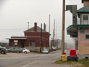 White River, Ontario - The train station in White River.