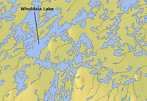 Wholdaia Lake - Map