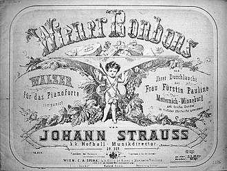 Wiener Bonbons - Cover of the piano score.  (Published by WIEN.C.A.SPINA)