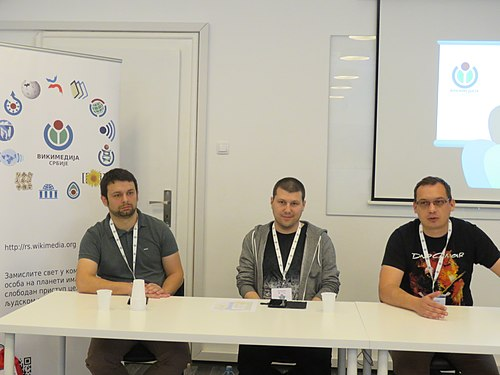 WikiLive 2018 in Serbia, Ask the Admins, Goran, Filip and Vladimir.jpg