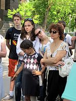 Wiki Party in Moscow 2013-05-18 (City tour; Krassotkin; 10).JPG
