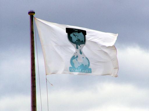 Fahne von Wikileaks,enthüllungen