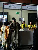 Wikimania 2015-Thursday-Wikipedia store (1).jpg